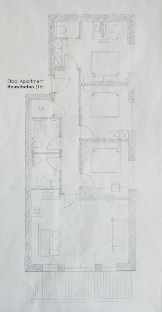 Ortnerhof / Stadl Apartment Superior / Grundriss